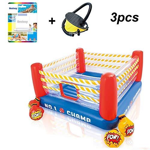 HKIASQ Trampolín para niños Trampolín Plegable para el hogar Paraíso Inflable Ring Boxing Bounce Cargo Toys 119lb (Tamaño: 88 Pulgadas * 88 Pulgadas * 43 Pulgadas)