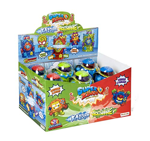 Superzings -  Display de 6 Kazoom Machine con figuras exclusivas ,  color/modelo surtido
