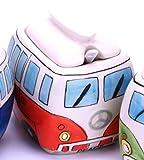 Camper Bus Zuckerdose / Zucker Pott aus Keramik, Farbe wählbar Rot Blau Grün Orange (Orange)