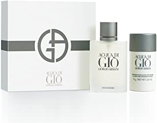 Acqua Di Gio By Giorgio Armani For Men Edt Spray 3.4 Oz & Alcohol Free Deodorant Stick 2.6 Oz