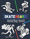 Skateboard coloring book: 20 beautiful pages to color | Skate board street art book for adults and teens.