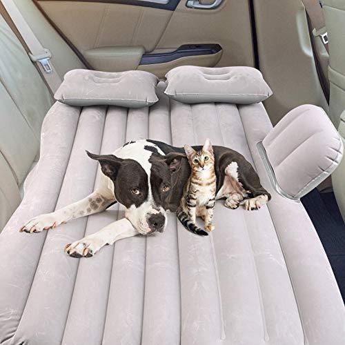 SUV Luftmatratze, Auto Luftmatratze with Luftpumpe Dickere Auto Matratze aufblasbares Bett Auto Luftmatratze aufblasbare Matratze Auto Matratze für Reisen Camping Outdoor (Silber Belastung 150 kg)
