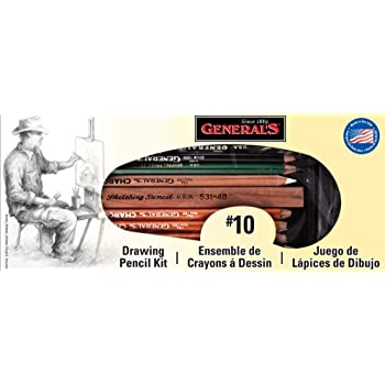 General Pencil Drawing Pencil Kit, 12-Piece (10)