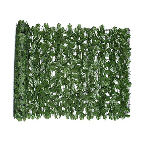 Queenbox 3 x 9.8ft Artificial Hedge Plant, Boxwood Greenery Leaves Wall, Panels Ivy Privacy Fence Screen for Outdoor Indoor Home Garden Decor