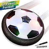 Baztoy Air Power Football, Jouet Enfant Ballon de Foot avec LED Lumière Hover Soccer Ball Jeux de Foot Cadeau d'anniversaire pour Garçons Filles Jeune Enfant Jeux Intérieur Extérieur Sport Ball