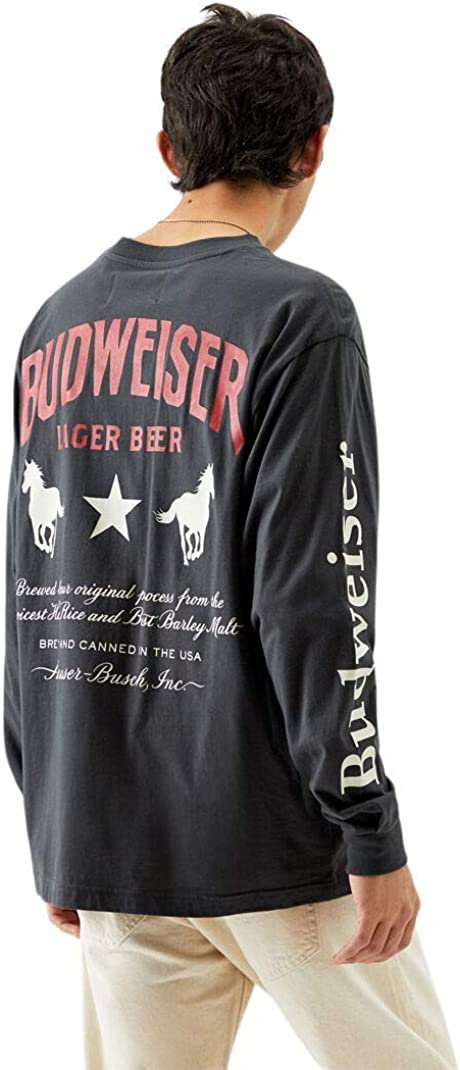 Budweiser Men's by PacSun Banners Long Sleeve T-Shirt - Multicolor