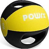 POWRX Palla Medica con Maniglie 10 kg - Ideale per Esercizi di »Functional Fitness«, potenziamento Muscolare...