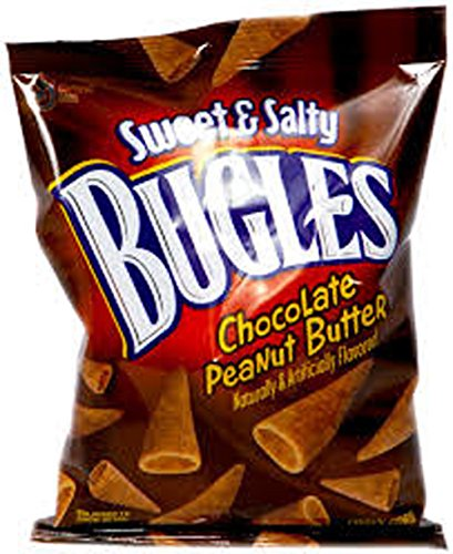 BUGLES SWEET & SALTY CHOCOLATE PEANUT BUTTER 3.25 OZ EACH (7 IN A PACK)