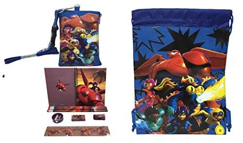 Disney BIG HERO 6baymax cordón & parado y orificio Soporte/cartera Set de regalo–azul