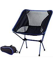 kampeerstoel lichtgewicht opvouwbaar klapstoel voor buiten, draagbaar, campingstoel met draagtas voor vissen, wandelen