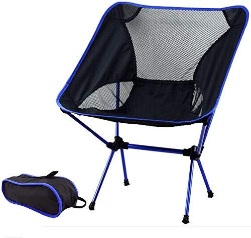 Faltbarer Campingstuhl Ultraleicht klappbar Faltstuhl Aluminium kompakt tragbar klappstuhl Angelstuhl für Wandern Outdoor