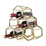 LXDDP Aplicación de decoración de Paredes. 6 Botellas de Vino en Rack - Acero Inoxidable de múltiples Funciones en el Piso de Vino Wine Cooler Wine Stemware Racks