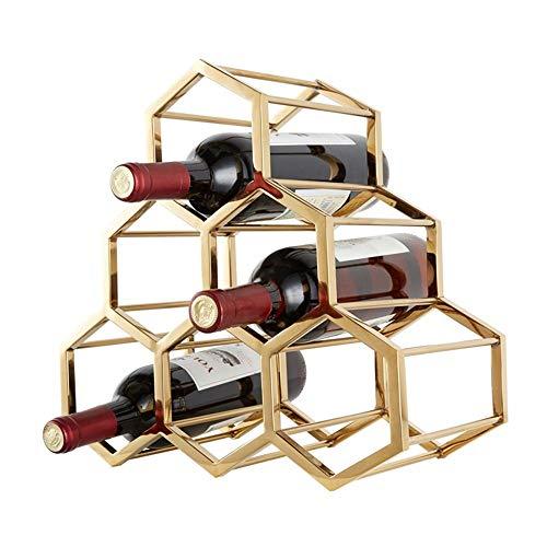 BINHC Estante para Vino, Bar, Restaurante, Estante para Copas de Vino, Aplicación de Decoración de Pared, 6 Botellas, Acero Inoxidable, Piso Multifunción, Estante para Vino, Enfriador de Vino, Estant