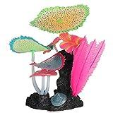 iFCOW Adorno de planta de coral artificial para acuario, decoración subacuática