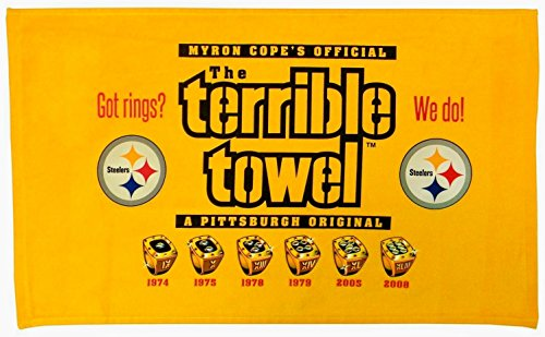 Pittsburgh Steelers Terrible Towel 6X Super Bowl Champions Got Rings? - New with Tags