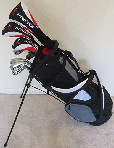 Tour Precision Golf Complete Golf Club Set, Men's, Regular Flex with Stand Bag, Graphite Shafts
