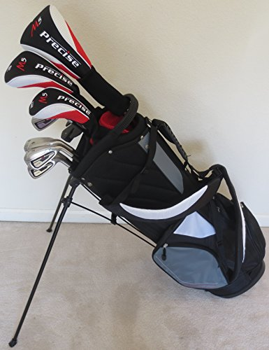 Tour Precision Golf Complete Golf Club Set, Men's, Regular Flex with Stand Bag, Graphite Shafts