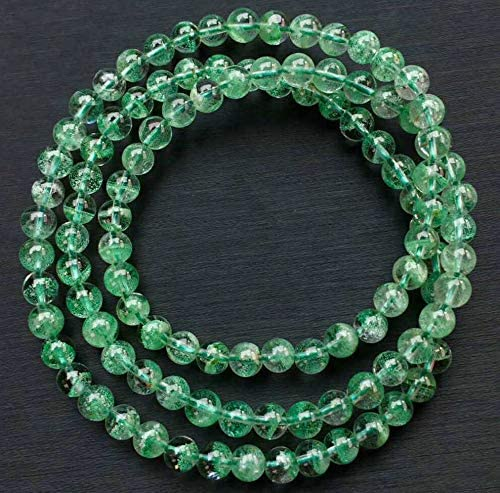 5mm AAA Natural Clear Green Spring new work Phantom Crystal 25% OFF B Ghost Round Quartz