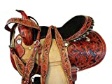Western Show Arabian Trail Pleasure Tooled Leather Racing Barrel Saddle 15 16 (16 Inch)