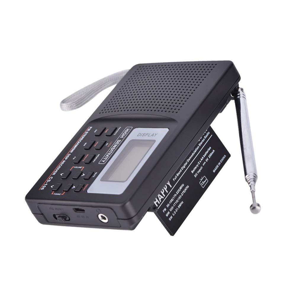 Banda Completa Am/SW/LW/TV/FM Radio Sonido Completo del Receptor ...