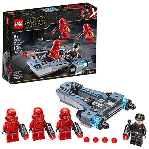Bonbell Lego Star Wars Sith Troopers Battle Pack 75266 Stormtrooper Speeder Vehicle Building Kit, New 2020 (105 Pieces)