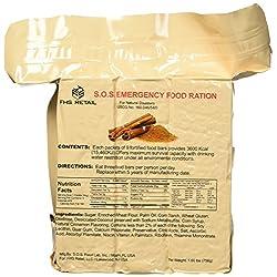 SOS Food Labs SOScin1pk S.O.S. Rations Emergency 3600 Calorie...