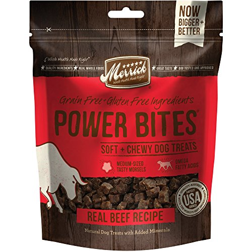 Merrick Power Bites Real Texas Beef Recipe Treats 6 Oz