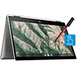"""HP Chromebook X360 14"""" Convertible FHD 2-in-1 Touchscreen Laptop Computer_ Intel Quad-Core Pentium Silver N5000 up to 2.7GHz_ 4GB DDR4 RAM_ 64GB eMMC_ Remote Work_ Chrome OS_ BROAGE 16GB Flash Stylus"""