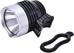 NICEJW Waterproof LED Bicycle Front Light,Aluminum Alloy Casing Battery Powered Head Lamp Torch Accessory