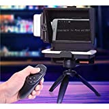KEA YISOFINE Mini Teleprompter Portable Inscriber Mobile Teleprompter Artifact Video With Remote Control For Phone and DSLR Recording(Mobile...