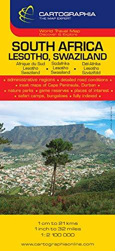 Mapa Cartographia Sudáfrica, Lesotho y Swazilandia (Mapas Cartographia) (French Edition)