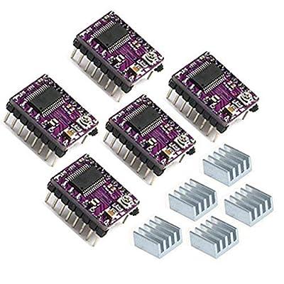 HiLetgo® 5pcs DRV8825 StepStick 4-layer Stepper Motor Driver for 3D Printer Reprap RP A4988