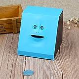 Veecome Face Coin Bank Money Eating Coin Box Battery Powered Monkey Saving Box Human face Piggy Bank - Glossy Blue KAD085319