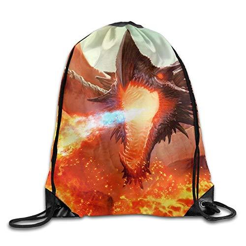 Ancient Hellkite Dragon Magic The Gatherin Unisex Home Gym Sack Bag Sport Drawstring Rucksack Bag