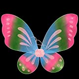 Butterfly Fairy Wings Dress Up Wings, Angel Wings Girls ' Costume Accessories, Birthday Party Favor Accessory Halloween Costume for Kids (Pink)