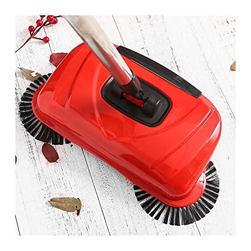 XINXI-YW Barredora Máquina de Barrido de Acero Inoxidable Tipo de Empuje Escoba manija de Polvo de la Cabina del hogar Aspirador de la Mano Mano Empuje Sweeper Suelo robótico para Pisos alfombrados.