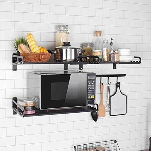 Mikrowellenhalterung Microwelle Halter Regal Ablage Küchen Wandhalterung für Mikrowellen, Grillofen, Backofen Wandbefestigung (M-50x39.5)