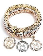 Set of 3 women bracelet with Taurus constellation pendant