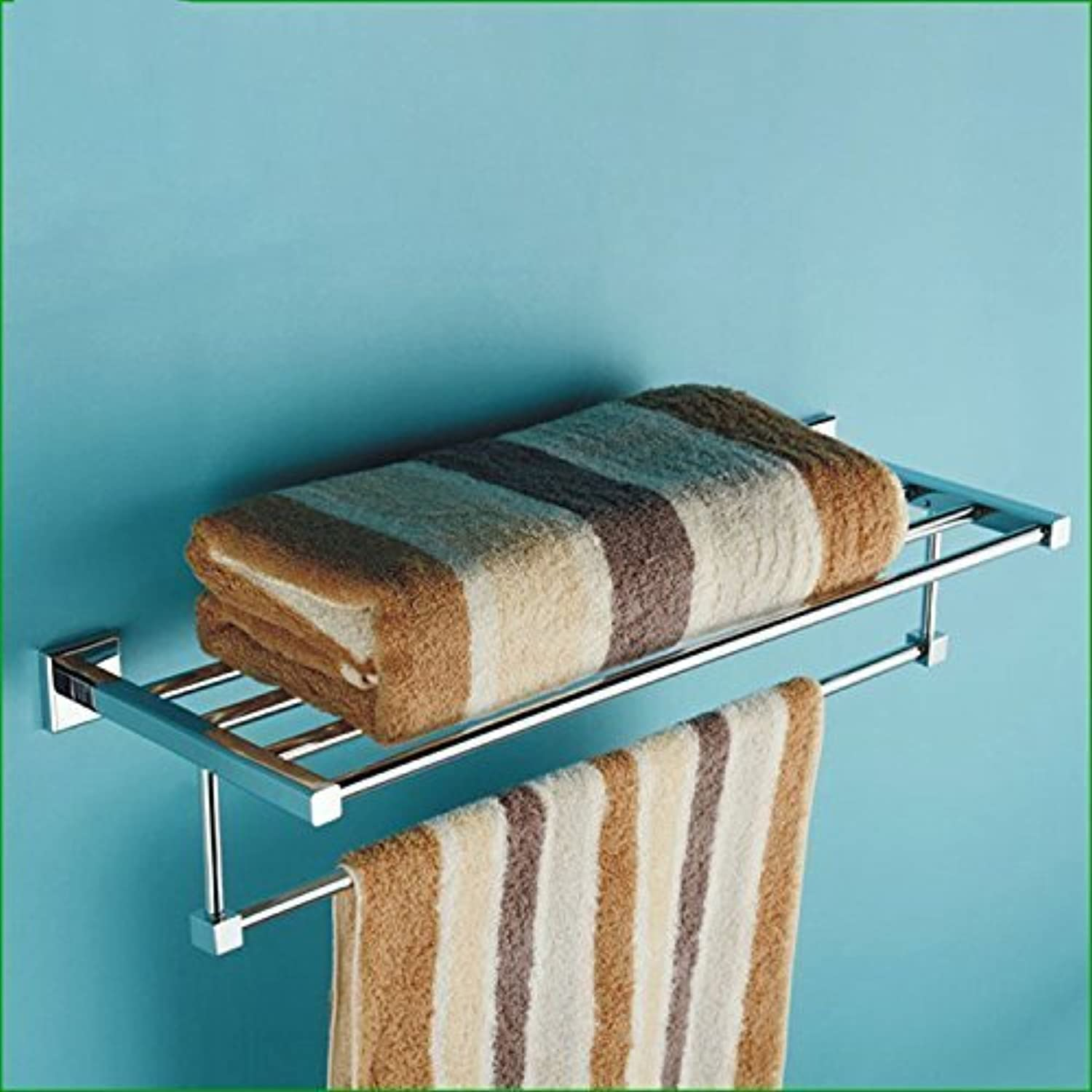 Square Base in Chromium Copper Handle of Bathroom Dry-Towels Series