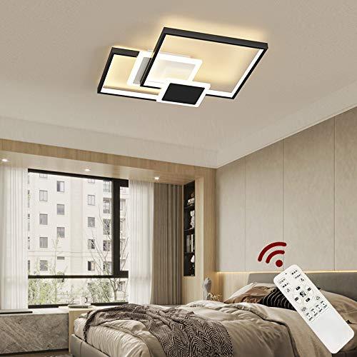 Eurotondisplay X8163-45HB X8163-45HB - Lámpara de techo LED (48 W, con mando a distancia, intensidad regulable), color negro