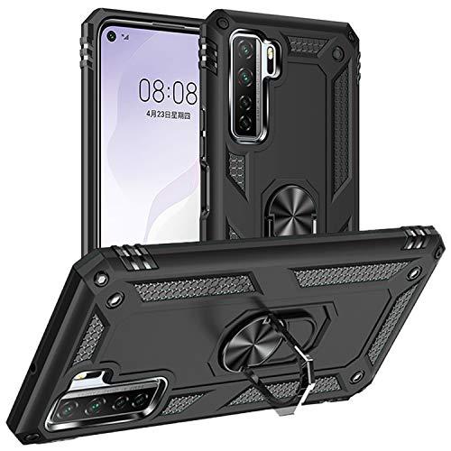 Pegoo für Huawei P40 lite 5G Hülle,Handyhülle Hybrid Harte Rüstung Drop Resistance Handys Schutzhülle für Huawei P40 lite 5G/nova 7 SE(Schwarz)