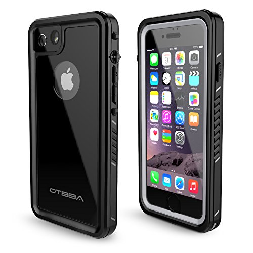 OTBBA iPhone 7/8 Waterproof CaseIP68 Certified Waterproof Shockproof Snowproof Dirtproof Full Body Protective Underwater Case for iPhone 7/8 Black