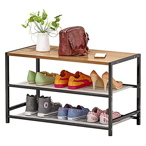 Plasaig - Estante para zapatos, estantes de malla ajustables horizontales o...