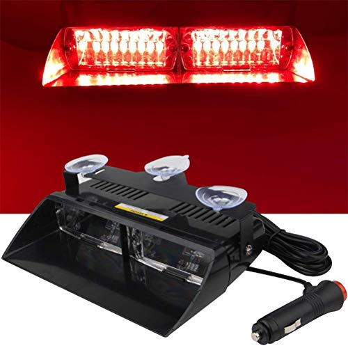N \ A Baliza de Emergencia de 16 LED, Luces estroboscópicas de Peligro, luz de Advertencia de 12 V para camión, Remolque, Techo Interior/Parabrisas/Tablero con Ventosa