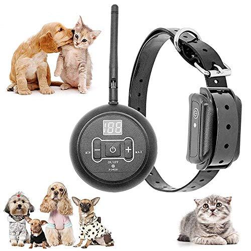Deterrente antiabbaio per cani senza fili, dispositivi di controllo dellabbaio per cani Dog Trainer 2 in 1 Control, sistema di recinzione elettrico per animali domestici impermeabile e ricaricabile