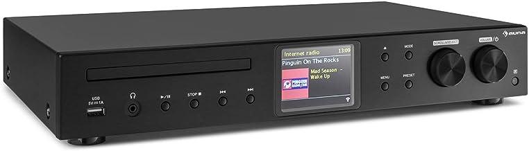 AUNA iTuner CD - Receptor HiFi, Radio de Internet, WLAN,