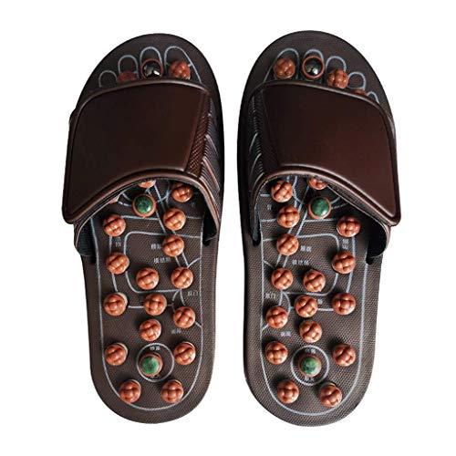 WXDP Pantuflas Calientes,Zapatillas Zapatillas de Masaje para Mujeres, masajeadores de pies Zapatillas de Masaje de acupresión para Hombres y Mujeres, alivian el estrés Plantar, acupresión, Sanda
