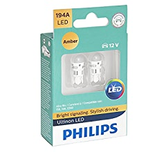 White Philips 168WLED License Light Bulb-Ultinon Led