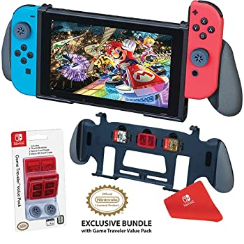 RDS Industries Nintendo Switch Grip Stand - Maximum Comfort for Enhanced Game Play  Perfect View Stand  Stores 3 Games  Comes with a Value Pack - Nintendo Switch