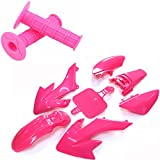 TC-Motor Pink Throttle Handle Grips + Fender...